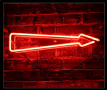 Red Arrow Neon Sign 1